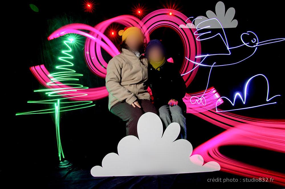 light painting Noël animation Draguignan 029