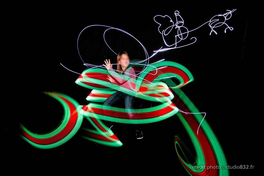 light painting photo originale animation Aix en provence 045